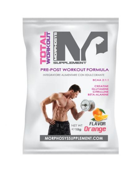 Morpho's TOTAL WORKOUT gusto  arancia monodose da 15 gr
